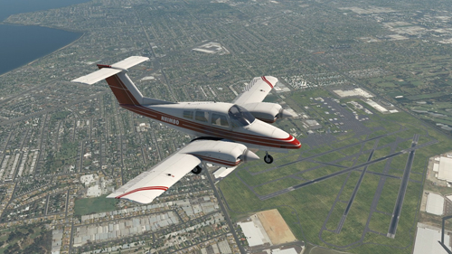 Flying a NDB Approach with Wind Correction in a BE76 Duchess