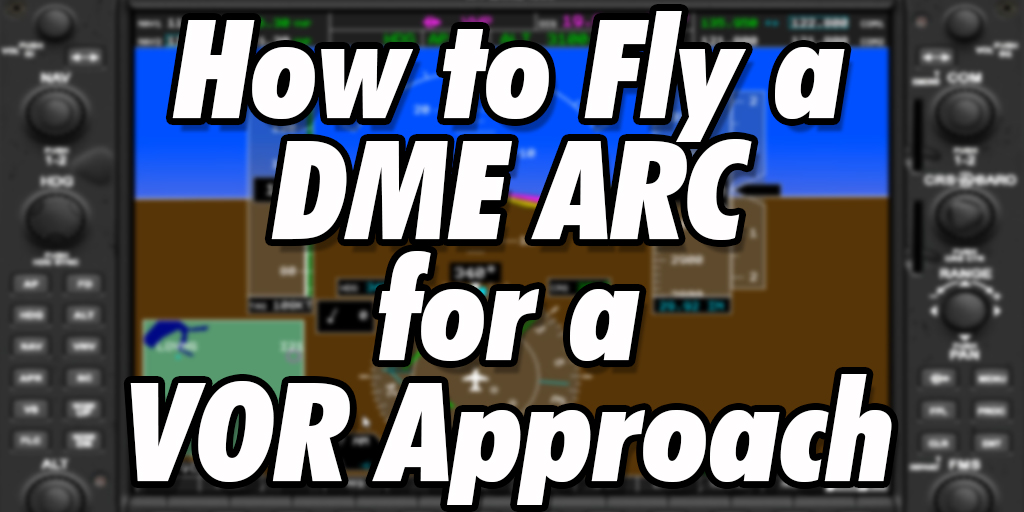 How to fly a DME ARC for Indianapolis Executive (KTYQ) VOR Rwy 18