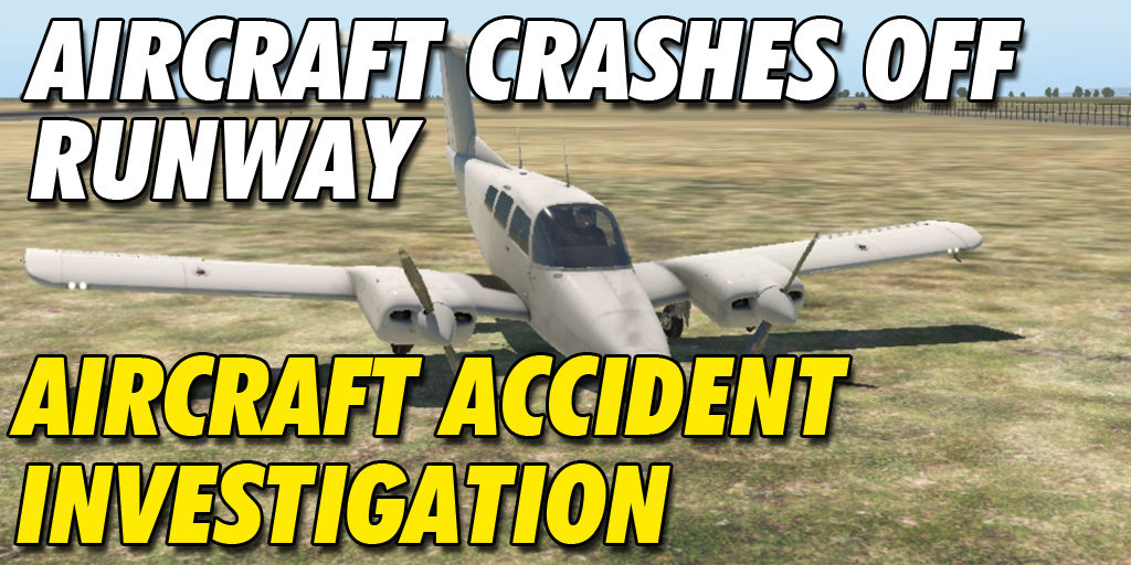Aircraft Crashes Off the Runway and Landing Gear Collapse