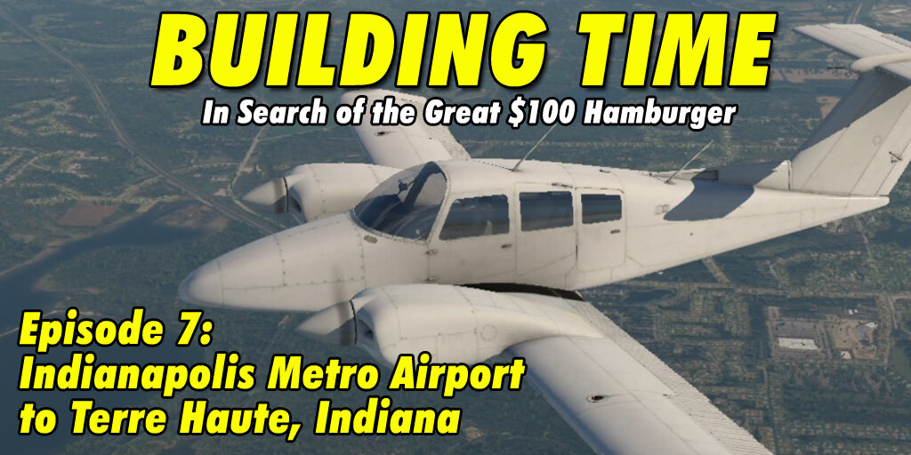 Flying the Duchess BE76 from Indianapolis Metro to Terre Haute
