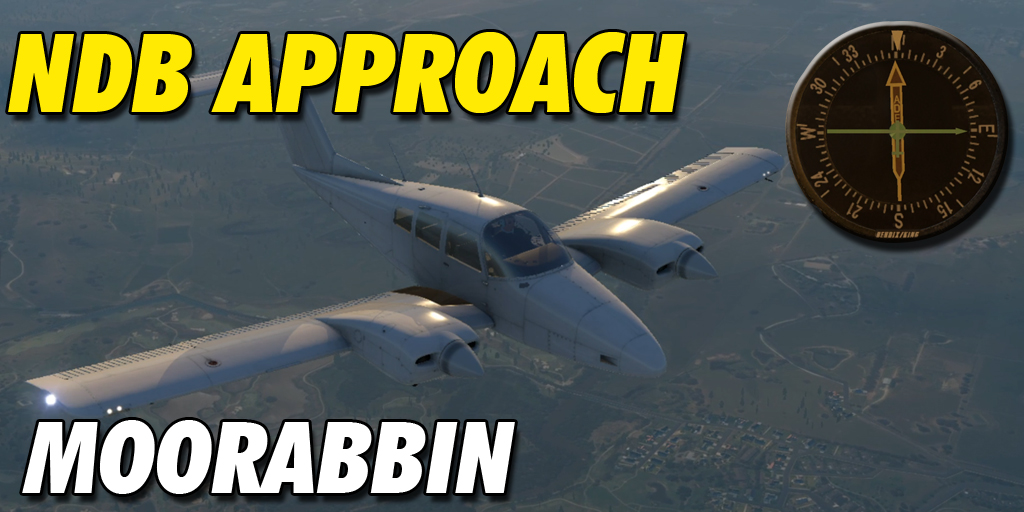 Flying the NDB Approach into Moorabbin Airport